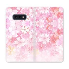 爛漫・ピンク&桜色 Samsung Galaxy S10e 合皮 手帳型ケース