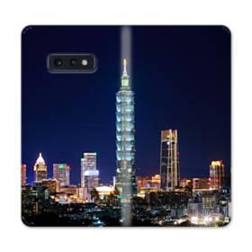 ザ・高層ビル Samsung Galaxy S10e 合皮 手帳型ケース