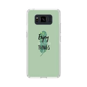 デザイン アルファベット011 enjoy the little things Samsung Galaxy S8 Active TPU クリアケース