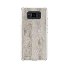 シンプルな北欧風 ホワイト木目 Samsung Galaxy S8 Active TPU クリアケース