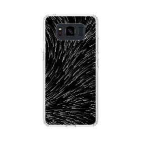 流れ星 モノクローム Samsung Galaxy S8 Active TPU クリアケース