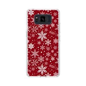 メリー クリスマス スノーのモチーフ Samsung Galaxy S8 Active TPU クリアケース