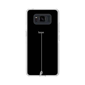 """デザイン アルファベット002、""""hope"""" Samsung Galaxy S8 Active TPU クリアケース"""