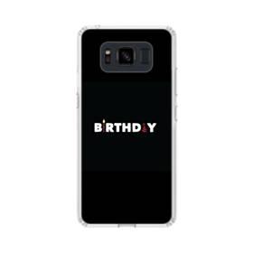 デザイン アルファベット005 birthday Samsung Galaxy S8 Active TPU クリアケース