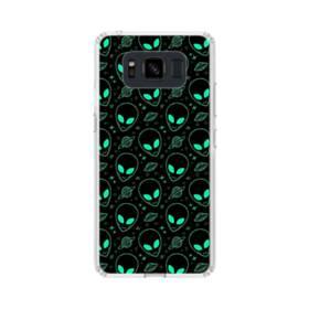 宇宙人&UFOのモチーフ Samsung Galaxy S8 Active TPU クリアケース