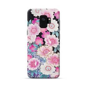 和の花柄 Samsung Galaxy S9 ポリカーボネート ハードケース