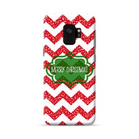 デザイン メリー クリスマス Samsung Galaxy S9 ポリカーボネート ハードケース