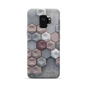 つぶつぶ六角形 Samsung Galaxy S9 ポリカーボネート ハードケース