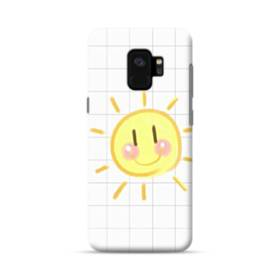 小学校の思い出 格子 お日さま 白 ホワイト かわいい Samsung Galaxy S9 ポリカーボネート ハードケース