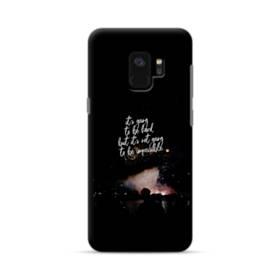 ブラック&デザイン アルファベット Samsung Galaxy S9 ポリカーボネート ハードケース