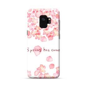 桜&デザイン英文 Samsung Galaxy S9 ポリカーボネート ハードケース