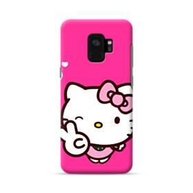 永遠に可愛い!キティちゃん Samsung Galaxy S9 ポリカーボネート ハードケース