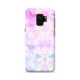 爛漫・抽象的な桜の花 Samsung Galaxy S9 ポリカーボネート ハードケース