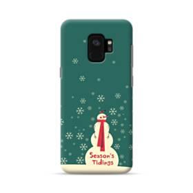 メリー クリスマス 雪だるま Samsung Galaxy S9 ポリカーボネート ハードケース