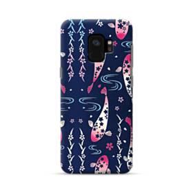 和柄:桜&錦鯉 Samsung Galaxy S9 ポリカーボネート ハードケース