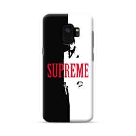デザイン 白黒系パターン(アルファベット入り:SUPER ME) Samsung Galaxy S9 ポリカーボネート ハードケース