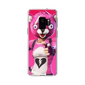 Hi  ! フォートナイト  可愛いピンクのクマ Samsung Galaxy S9 TPU クリアケース