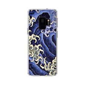 名画:女浪(めなみ) 葛飾 北斎 Samsung Galaxy S9 TPU クリアケース