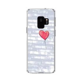 ハートバルーン Samsung Galaxy S9 TPU クリアケース