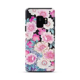 和の花柄 Samsung Galaxy S9 ポリカーボネート タフケース