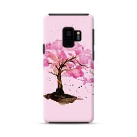水彩画・桜の木 Samsung Galaxy S9 ポリカーボネート タフケース