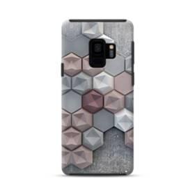 つぶつぶ六角形 Samsung Galaxy S9 ポリカーボネート タフケース
