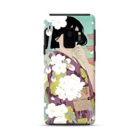 ザ・桜&ジャパンガール! Samsung Galaxy S9 ポリカーボネート タフケース