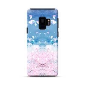 桜の花びら Samsung Galaxy S9 ポリカーボネート タフケース