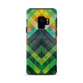 抽象的なモザイクパターン Samsung Galaxy S9 ポリカーボネート タフケース