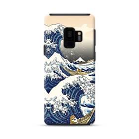 和柄:柴犬in浮世絵 Samsung Galaxy S9 ポリカーボネート タフケース
