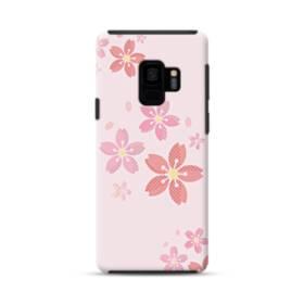 春・桜の花001 Samsung Galaxy S9 ポリカーボネート タフケース