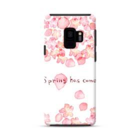 桜&デザイン英文 Samsung Galaxy S9 ポリカーボネート タフケース