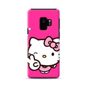 永遠に可愛い!キティちゃん Samsung Galaxy S9 ポリカーボネート タフケース