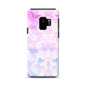 爛漫・抽象的な桜の花 Samsung Galaxy S9 ポリカーボネート タフケース