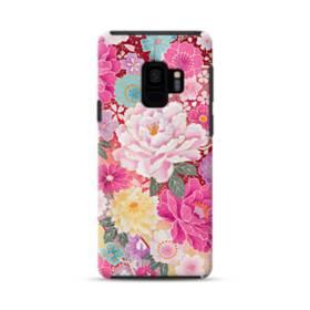 和の花柄:牡丹 Samsung Galaxy S9 ポリカーボネート タフケース