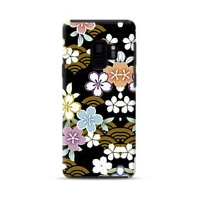 和風・桜&浪 Samsung Galaxy S9 ポリカーボネート タフケース