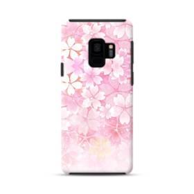 爛漫・ピンク&桜色 Samsung Galaxy S9 ポリカーボネート タフケース