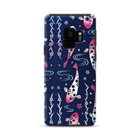 和柄:桜&錦鯉 Samsung Galaxy S9 ポリカーボネート タフケース