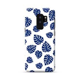 ブルー系リーフのモチーフ Samsung Galaxy S9 Plus ポリカーボネート ハードケース
