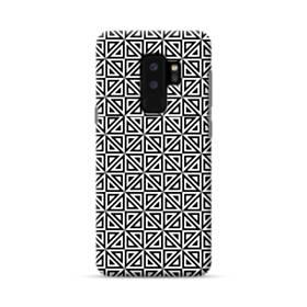 白黒系パターン:幾何図 Samsung Galaxy S9 Plus ポリカーボネート ハードケース