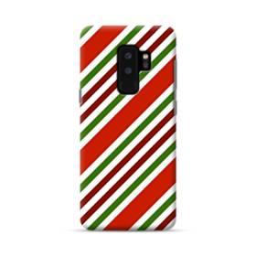 メリー クリスマス ストライプ パターン Samsung Galaxy S9 Plus ポリカーボネート ハードケース