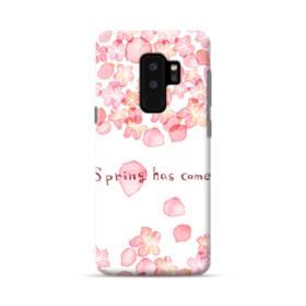 桜&デザイン英文 Samsung Galaxy S9 Plus ポリカーボネート ハードケース