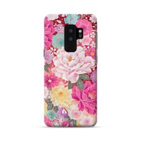 和の花柄:牡丹 Samsung Galaxy S9 Plus ポリカーボネート ハードケース