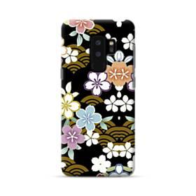 和風・桜&浪 Samsung Galaxy S9 Plus ポリカーボネート ハードケース