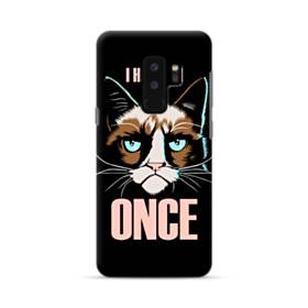 猫&英文(ファニー) Samsung Galaxy S9 Plus ポリカーボネート ハードケース
