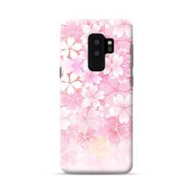 爛漫・ピンク&桜色 Samsung Galaxy S9 Plus ポリカーボネート ハードケース