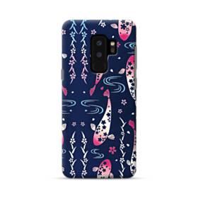 和柄:桜&錦鯉 Samsung Galaxy S9 Plus ポリカーボネート ハードケース