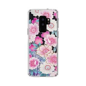 和の花柄 Samsung Galaxy S9 Plus TPU クリアケース
