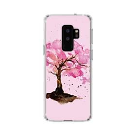 水彩画・桜の木 Samsung Galaxy S9 Plus TPU クリアケース