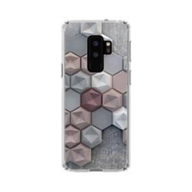 つぶつぶ六角形 Samsung Galaxy S9 Plus TPU クリアケース